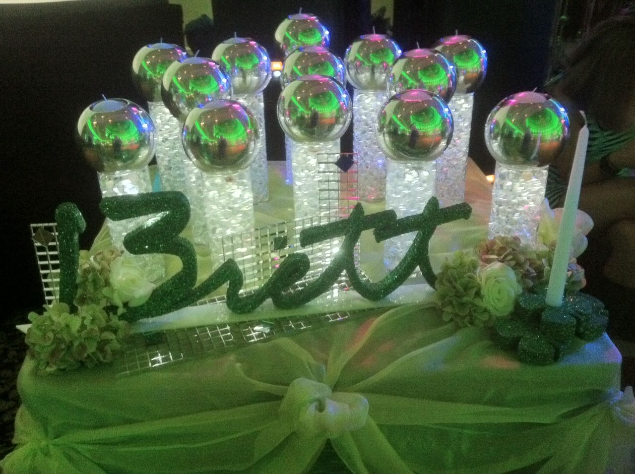 glowing bar mitzvah candle lighting display party perfect boca raton fl 1561 candle lighting ideas