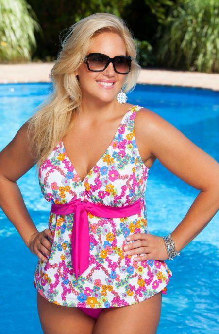 always for me coco plus size tankini | primroses, bathing suits
