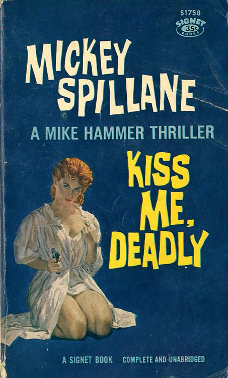Kiss me deadly Mickey Spillane movie poster print