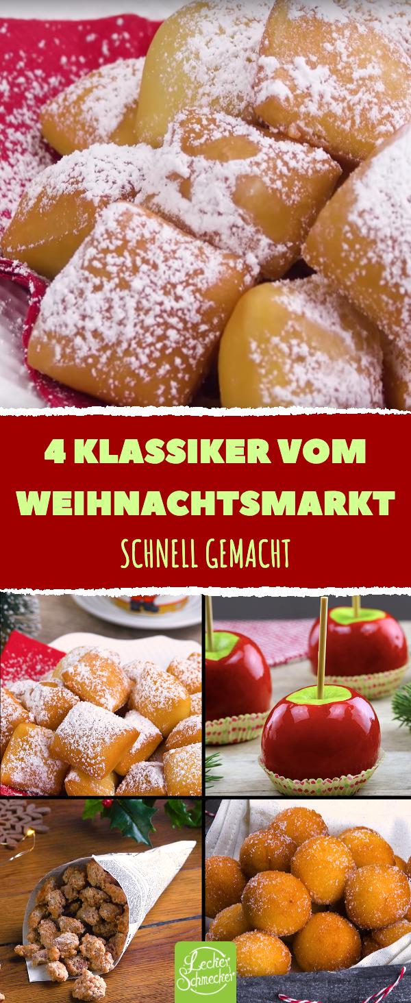 4 Klassiker vom Weihnachtsmarkt: Süßigkeiten-Rezepte zum Nachmachen. #nikolausgeschenk