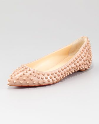 7730fcaf539 Pigalle Spiked Skimmer Red Sole Flat | Flats I'd Snatch | Flats ...