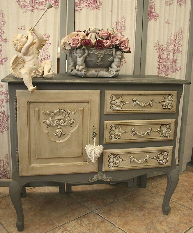 adorable meuble en ch ne de style louis xv commode patin e. Black Bedroom Furniture Sets. Home Design Ideas