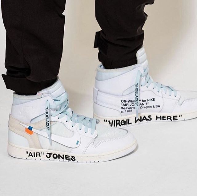 "8a8997901334  Kim Jones 🔎 - Off-White X Nike Air Jordan 1 ""White"" V2 - Personally  Customized By  Virgil Abloh 🖊 - ""VIRGIL WAS HERE"" 📍 -  ONUS"