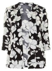 Evans Black and White Floral Jacket