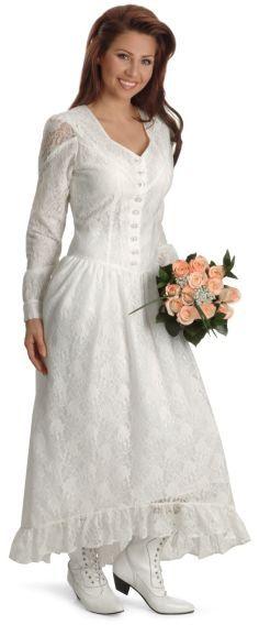 Ivory Western Wedding Gown | Weddings We Love | Pinterest | Westerns ...