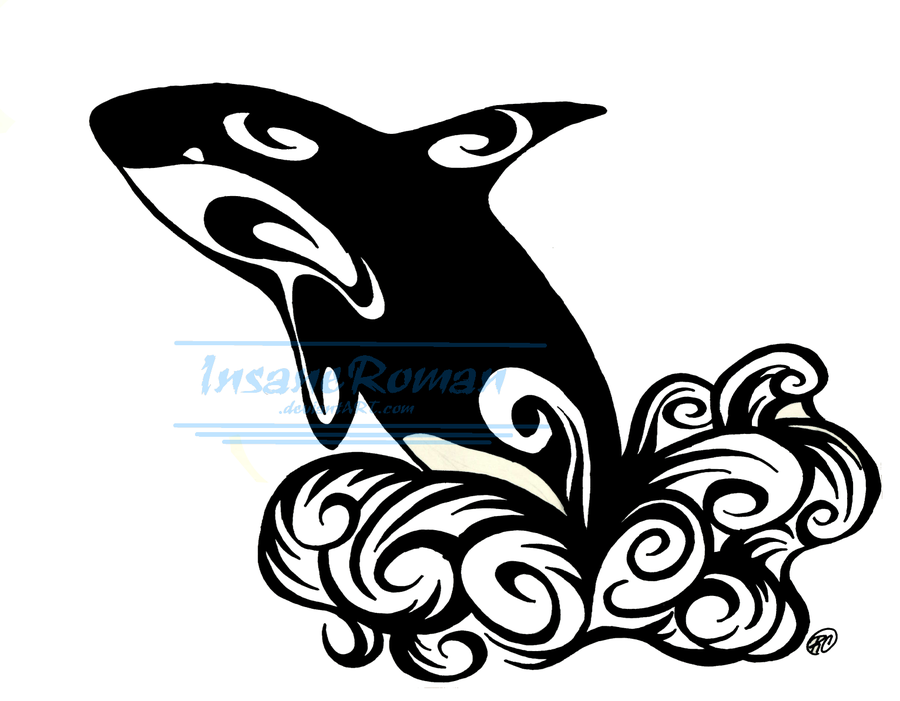 orca whale tattoo design by insaneroman 900 701 wearable art pinterest whale. Black Bedroom Furniture Sets. Home Design Ideas