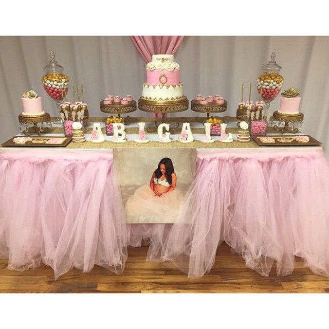 Baby Shower Girl Table Decorations ~ Tutu themed baby shower kids party