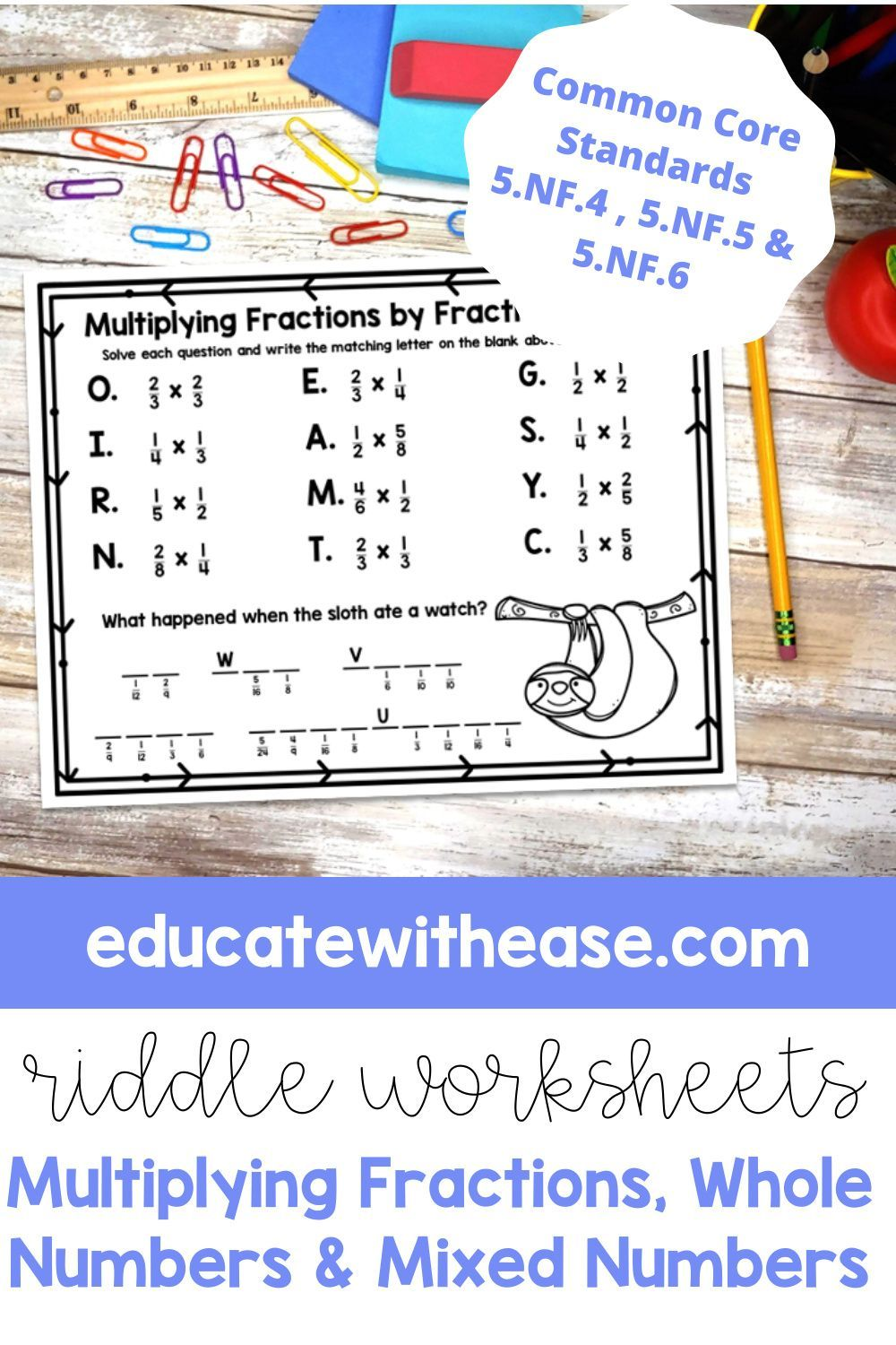 Zoo Multiplying Fractions Whole Numbers Mixed Numbers Riddle Worksheets In 2021 Multiplying Fractions Fractions Fraction Activities [ 1500 x 1000 Pixel ]