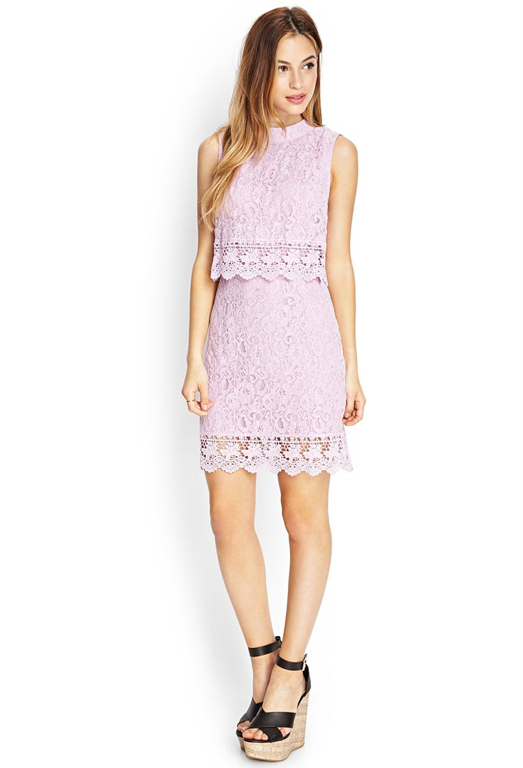 Crochet Lace Flounce Dress Forever21 2000083441 Dresses Flounced Dress Dress To Impress
