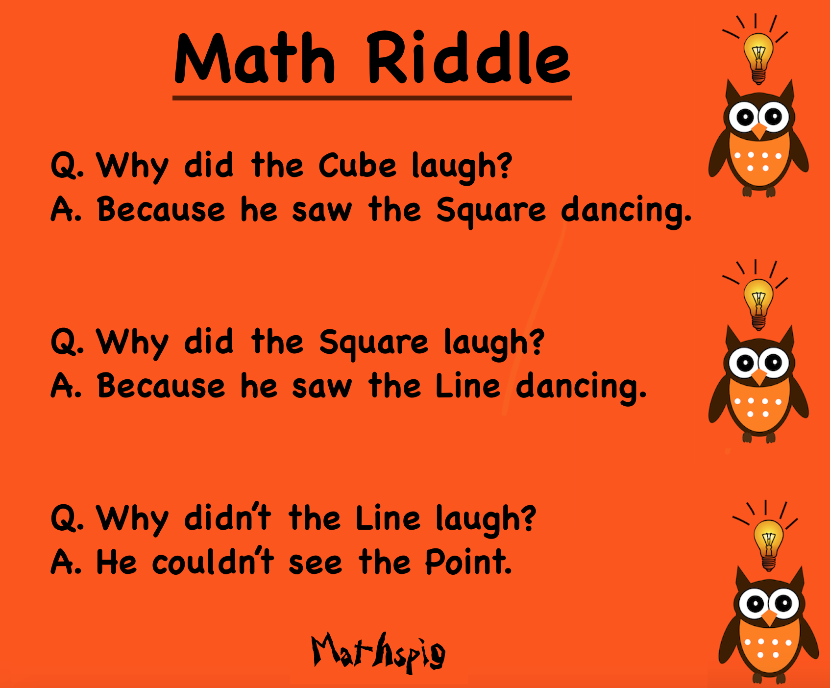 MIddle School Mathspig Math jokes, Math, Middle school