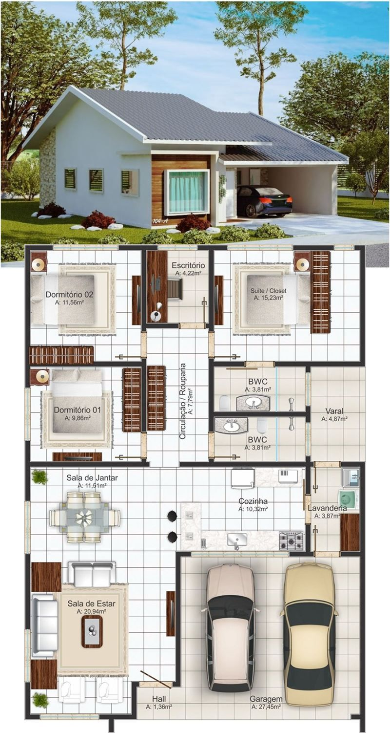 Medium Size 3 Bedroom One Story House One Storey House House Construction Plan Sims House Plans