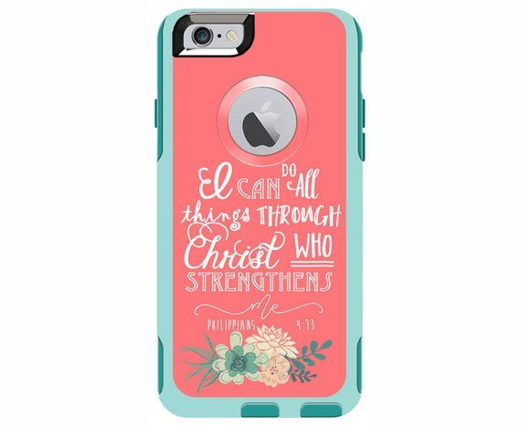 detailed look 07530 c67dd Philippians 4:13 Custom Otterbox Commuter Case for iPhone 7, iPhone ...