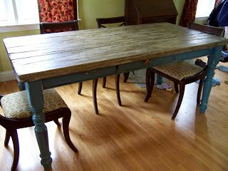 Upcycle An Old Ugly Table Into A Harvest Table Designed Sealed And