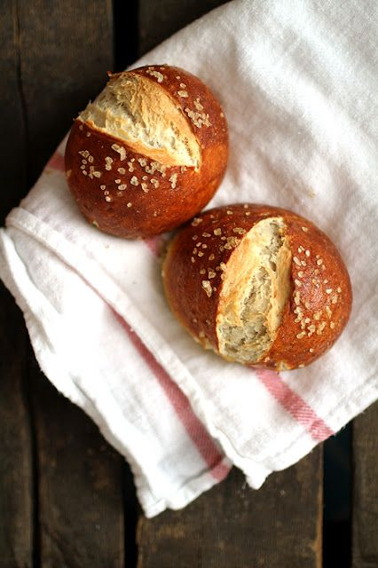 Pretzel Rolls Yes Please Costco Sells A Mean Roll But I Needed Recipe To Make Them At Home Happy Feet