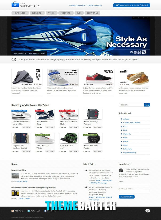 Sofa SuppaStore - WordPress. Sofa SuppaStore is one of many webshop ...