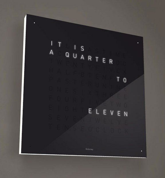 Accessories No 03 Clocks: QLOCKTWO By BIEGERT & FUNK Want!!
