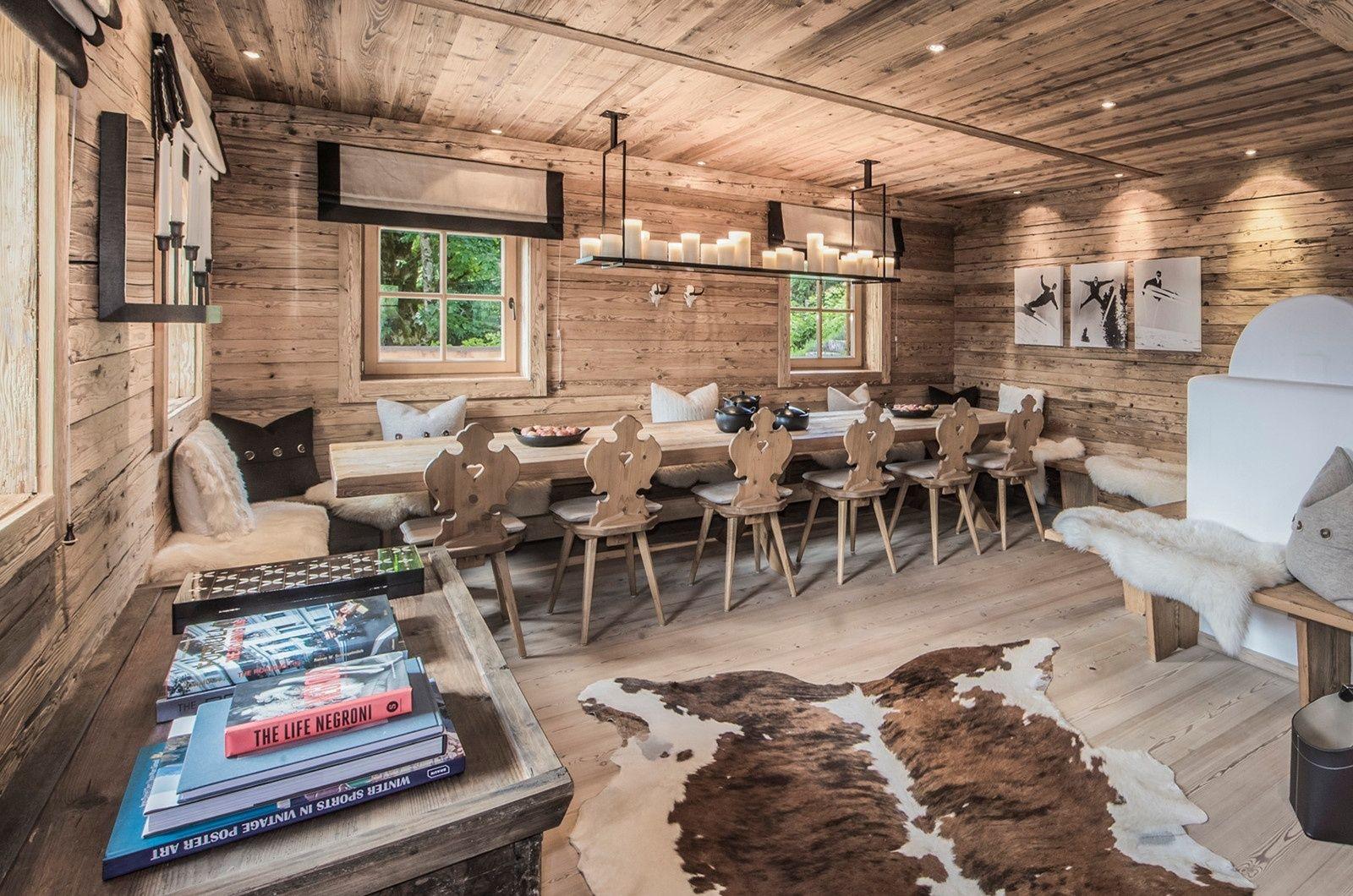 Großen Wohn und Essbereich Chalet design