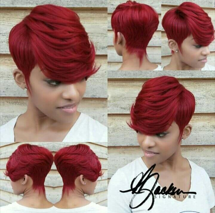 Quickweave No 27pc Redbombshell Short Red Hair Quick Weave Hairstyles Short Hair Styles