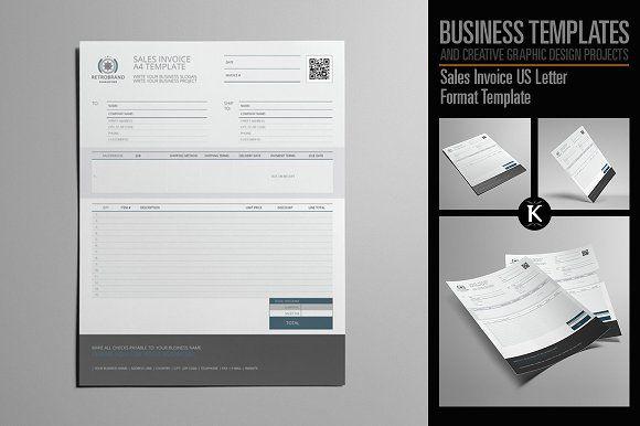 Sales Invoice Us Letter Lettering Creative Graphic Design Graphic Design Templates