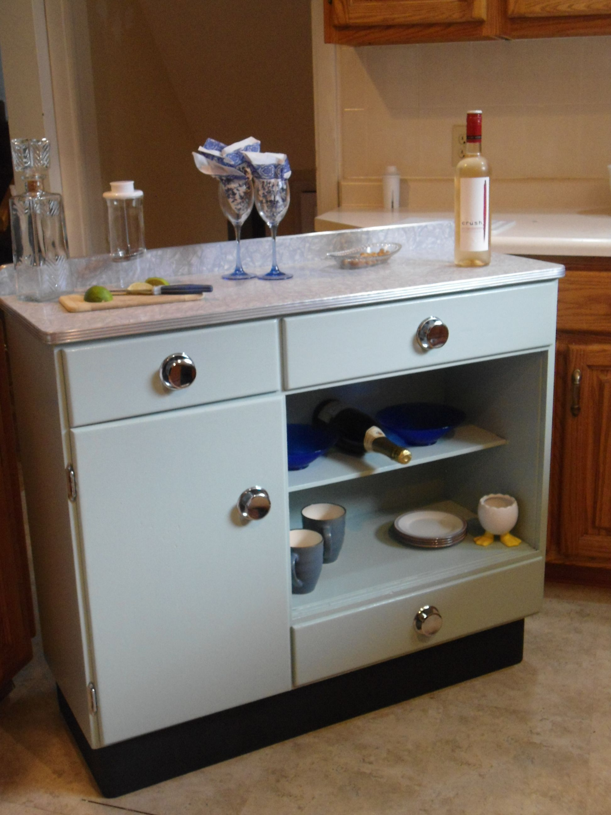 Vintage kitchen kitchen hutch from the 1960\'s given new life with ...