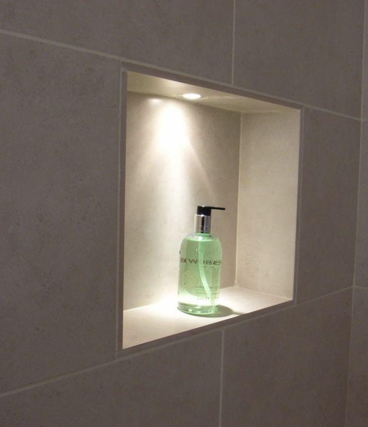 niche lighting in shower bathroom