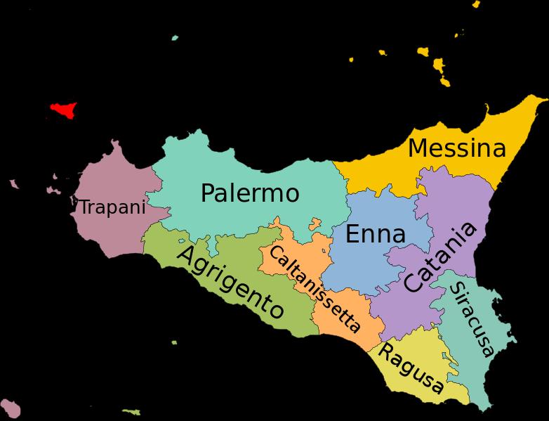 Map of Sicily Italy Sicilia Sardinia Pinterest Sicily