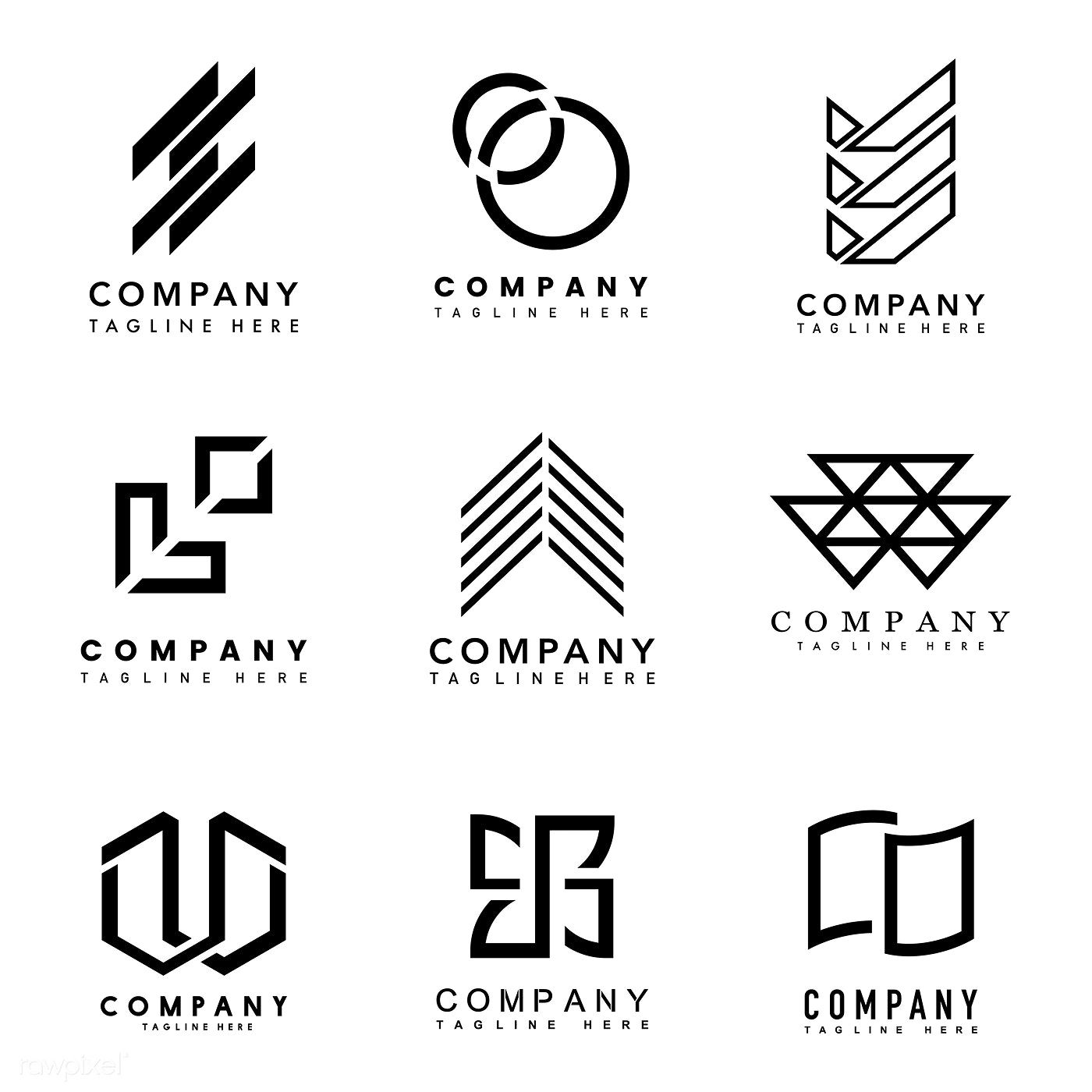 Download Premium Vector Of Set Of Company Logo Design Ideas Vector 495848 Company Logo Design Logo Design Vector Logo Design