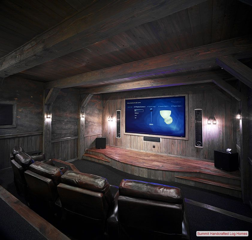 27 Cool Basement Home Theater Ready To Entertain: Like This For The Basement. Rustic Movie Room