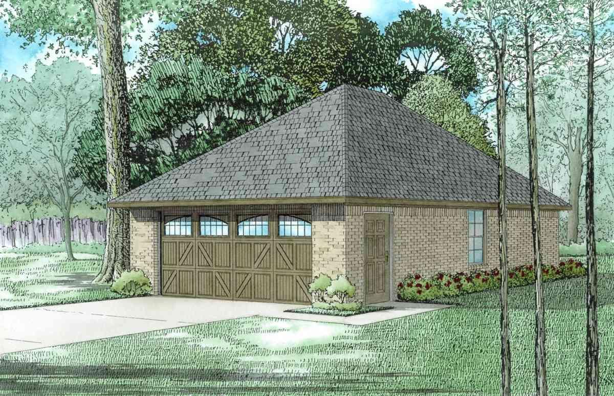 2 Car Garage with Hip Roof in 2020 Garage plans, Hip
