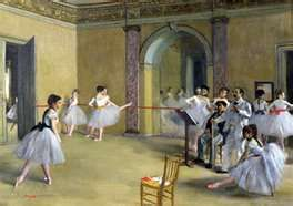 Degas - many paintings dealing with ballet.