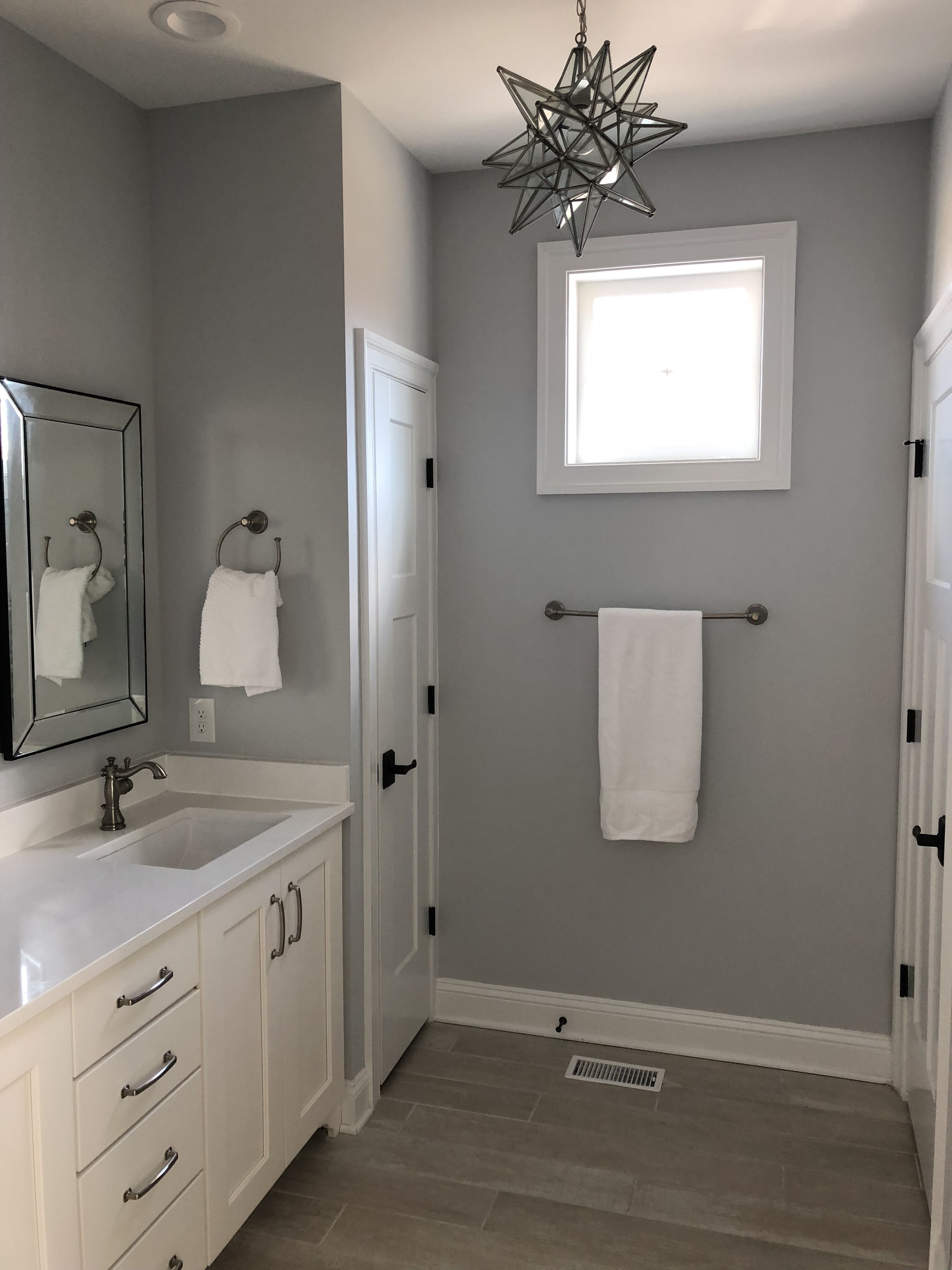 Master Bath In Gray White And Cream By Jm Selections Small