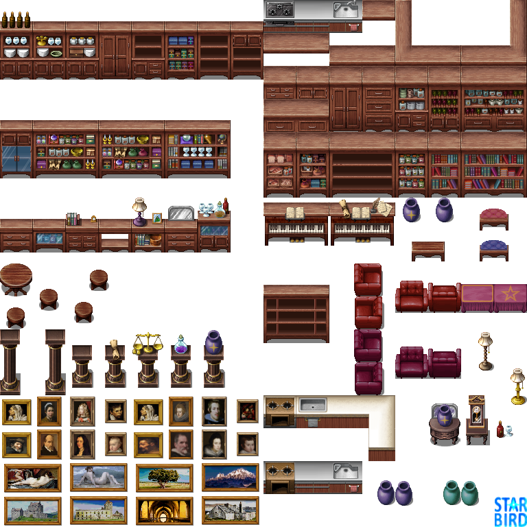 RMMV Furniture - RTP Edits by StarbirdResources | RPG Maker