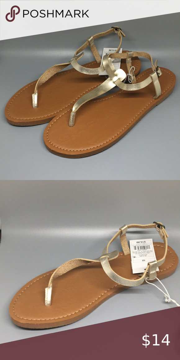 Universal Thread Gold Toe Strap Sandals