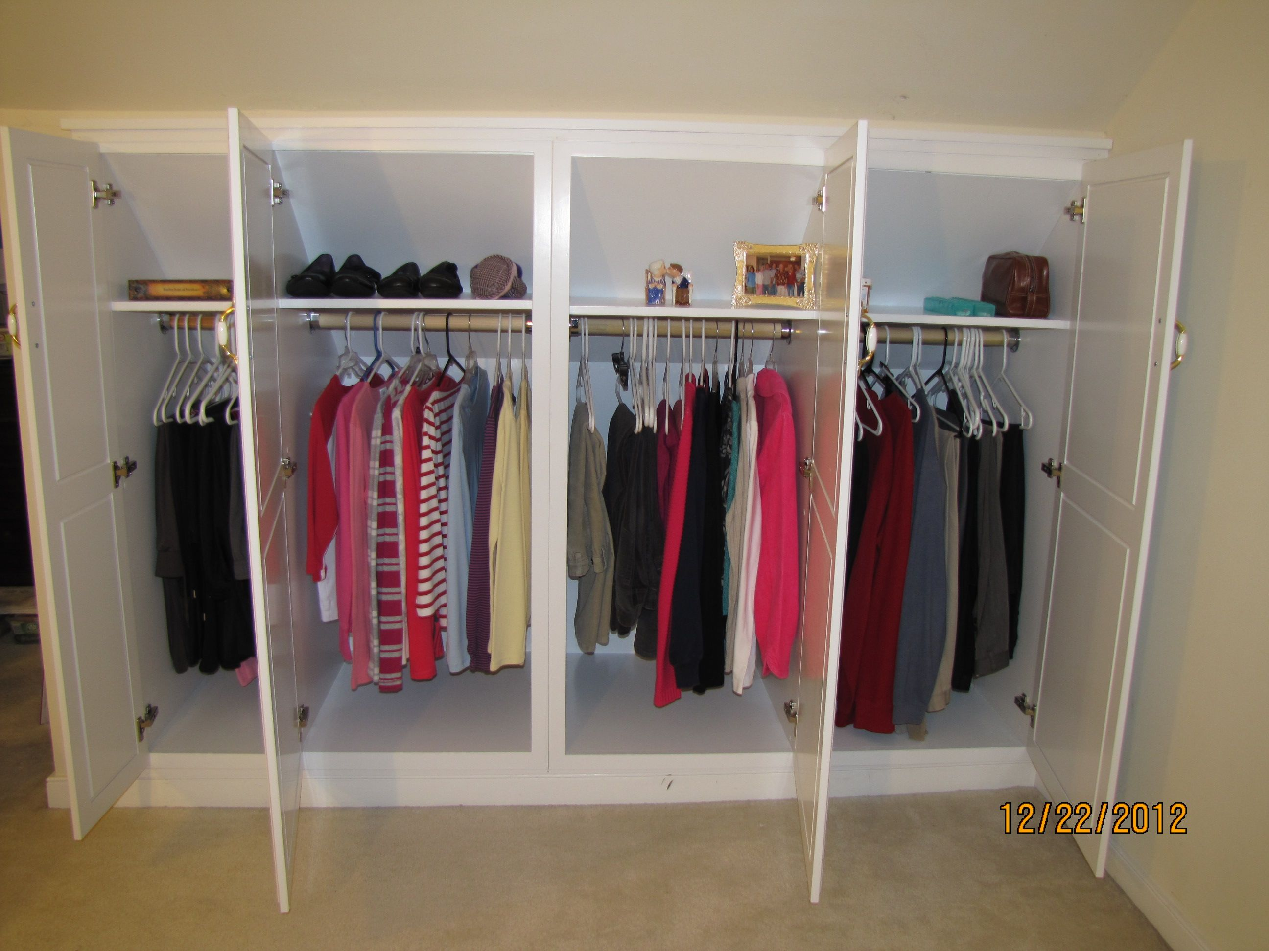 Wardrobe Knee Wall Cabinets Knee Wall Angled Cabinets In