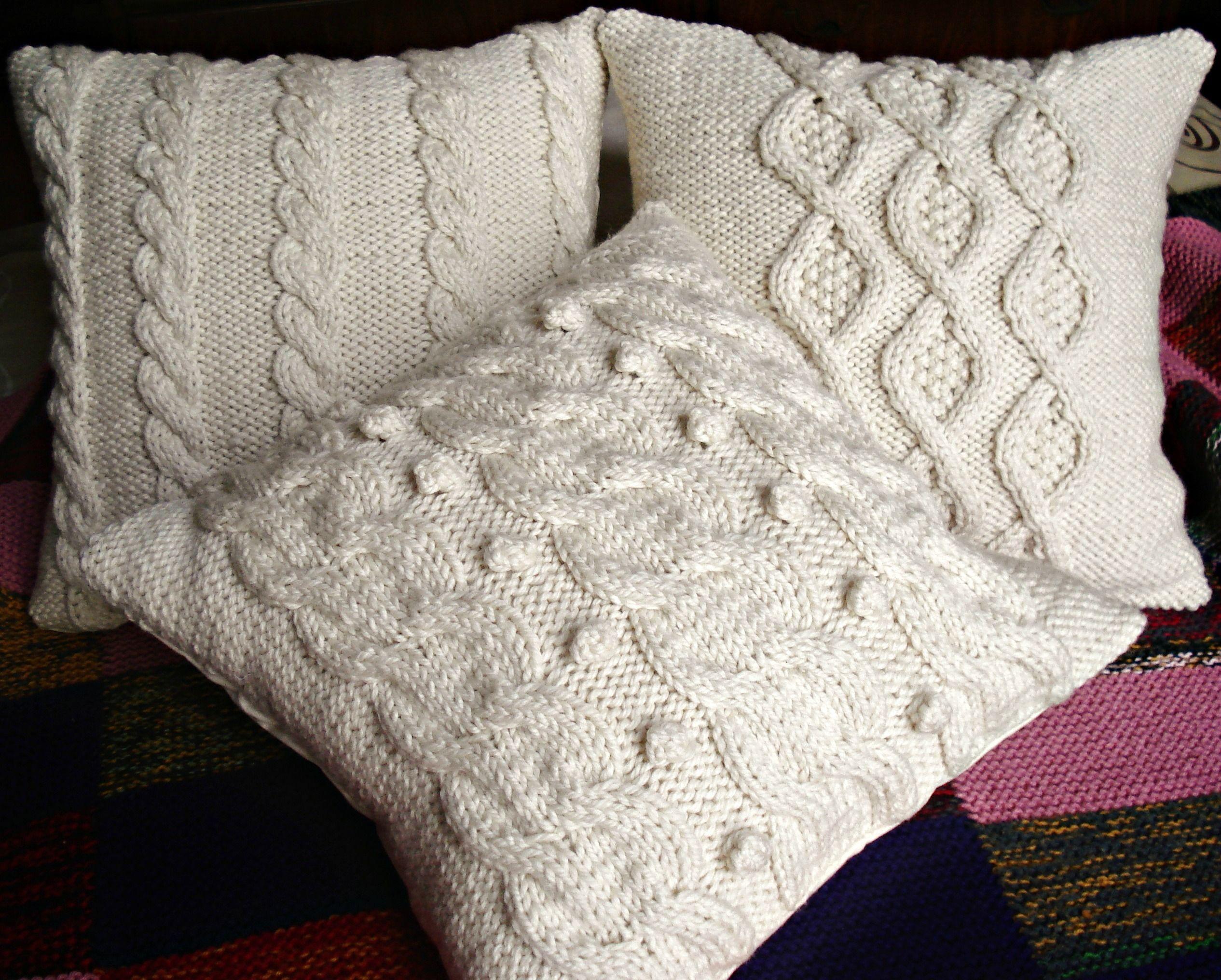 Almohadones tejidos 160 en solo punto pinterest crochet - Cojines de lana ...