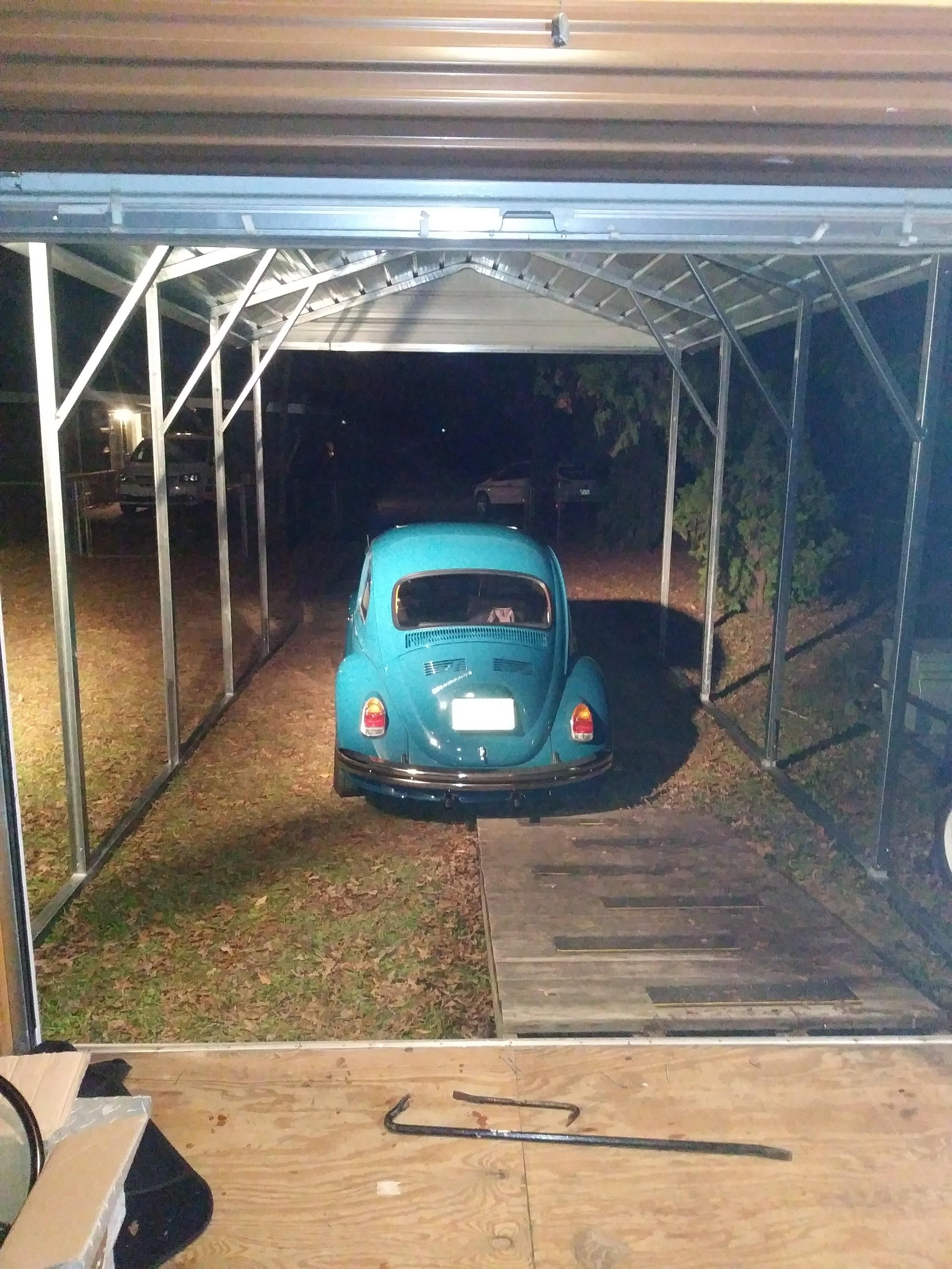 12x21 boxed eave style metal carport Alan's Factory