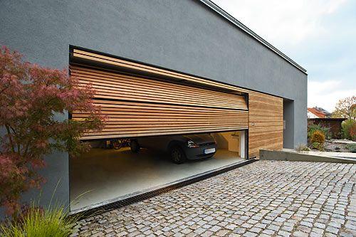 Garagentor holz modern  Flächenbündige Garagentore | Haus | Pinterest | Garage ...