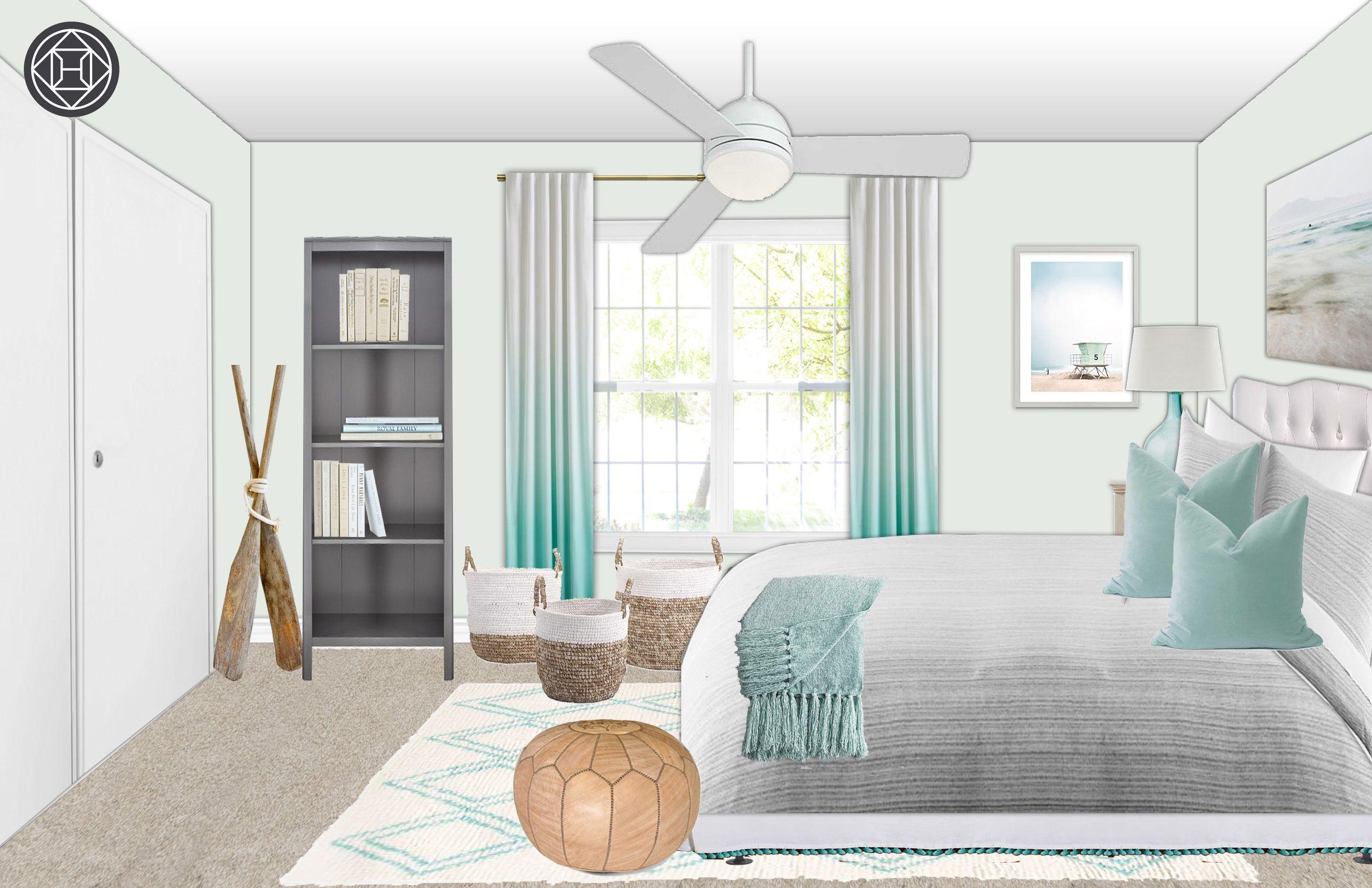 Teen Coastal Bedroom Layout 2