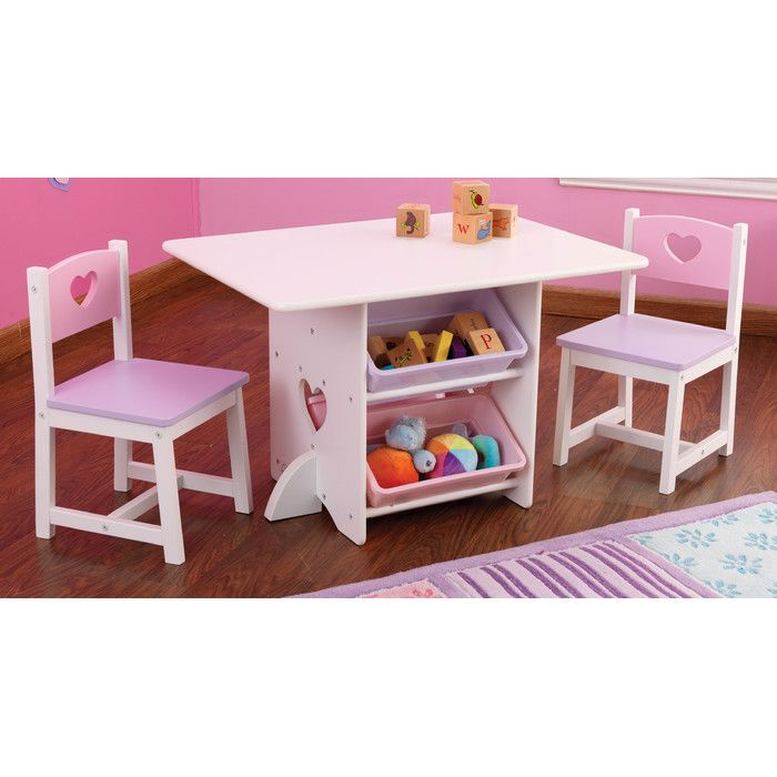 Heart Kids 7 Piece Table Chair Set Kids Play Table Kids Furniture Kids Table Chair Set