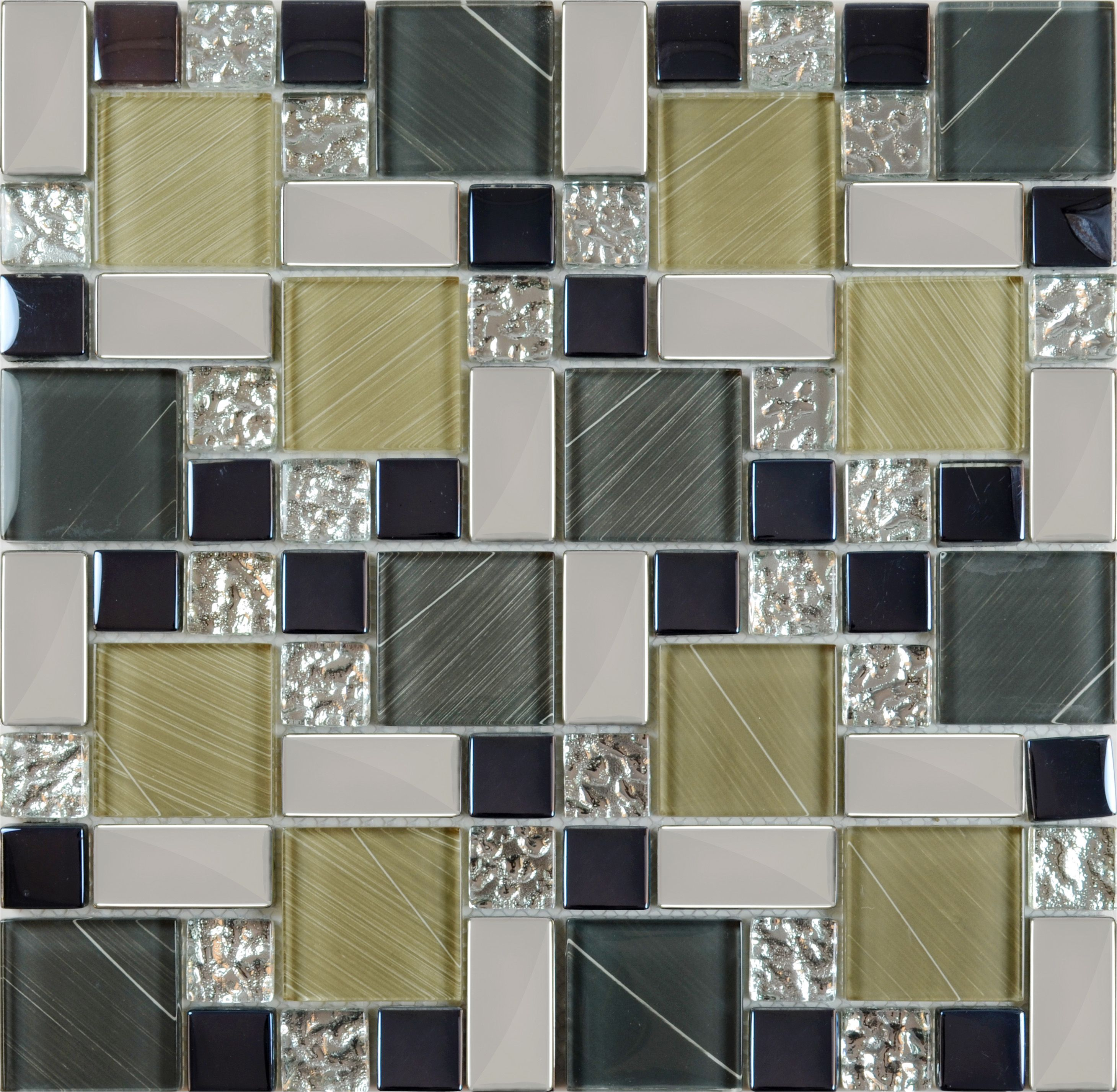 Crystal Glass Tile Sheets Hand Painted Kitchen Backsplash Tile Wall ...