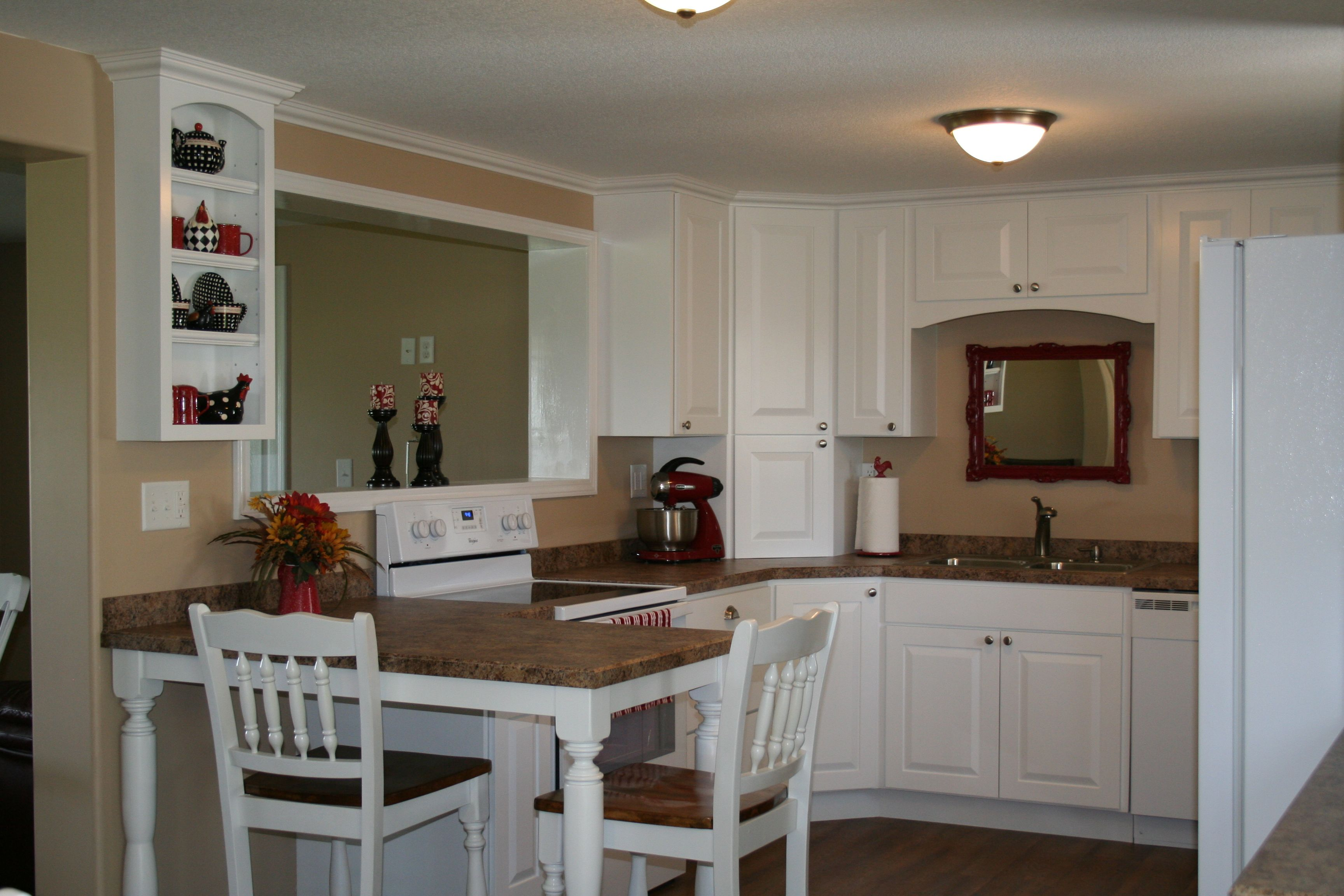 My actual kitchen! Peninsula with legs turned by cabinet ...