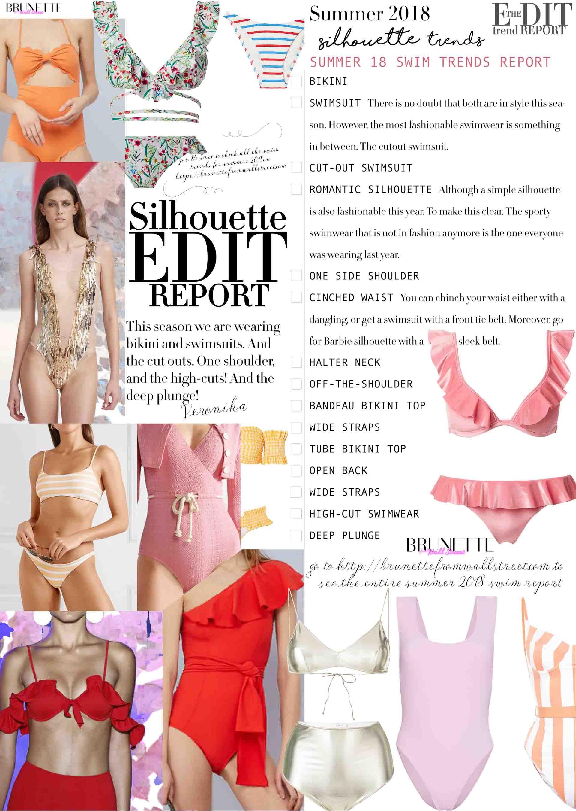 0ed761927d Summer 2018 Swimwear Silhouette Report