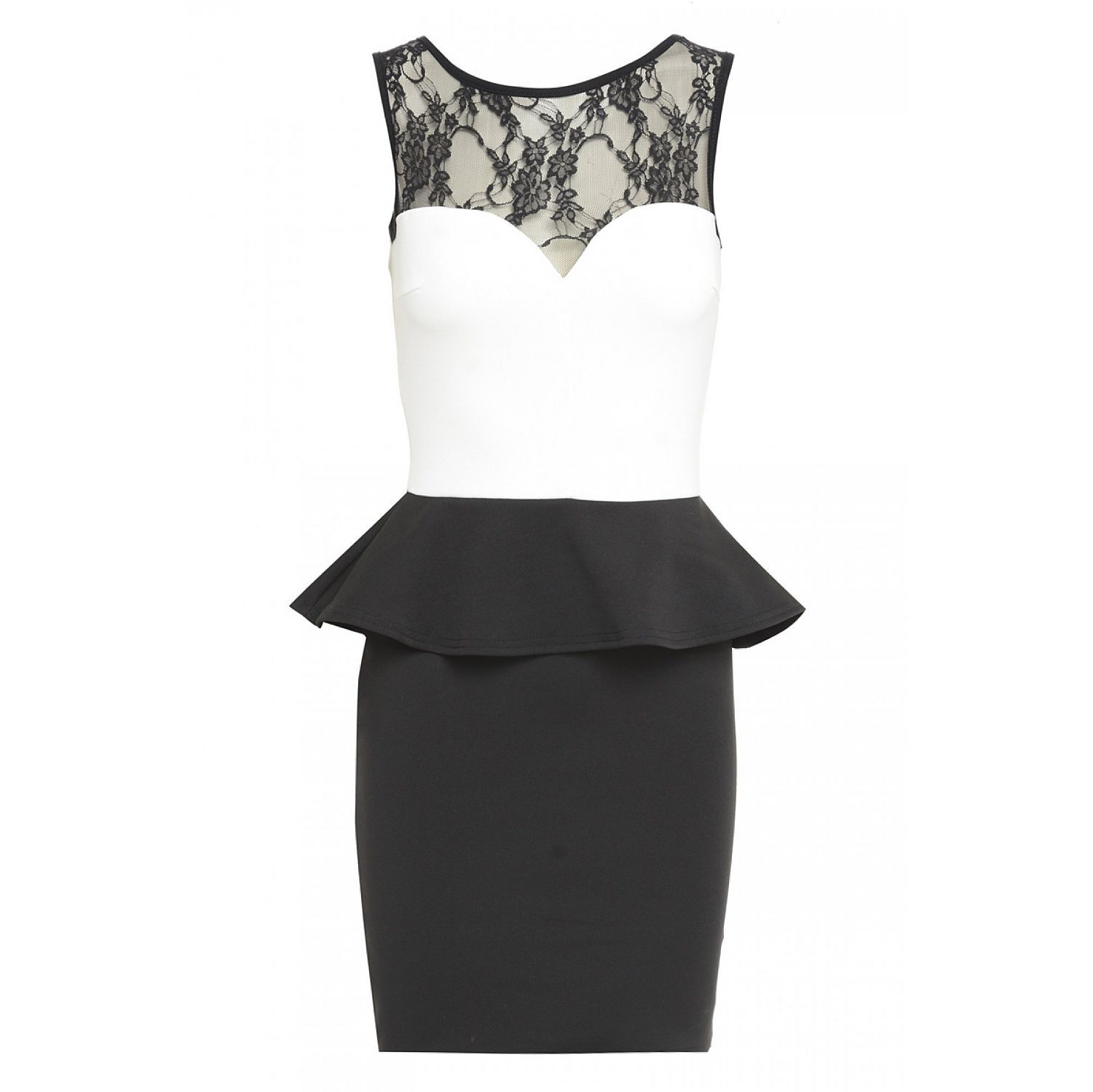 Creamblack marcella peplum lace dress for her pinterest lace