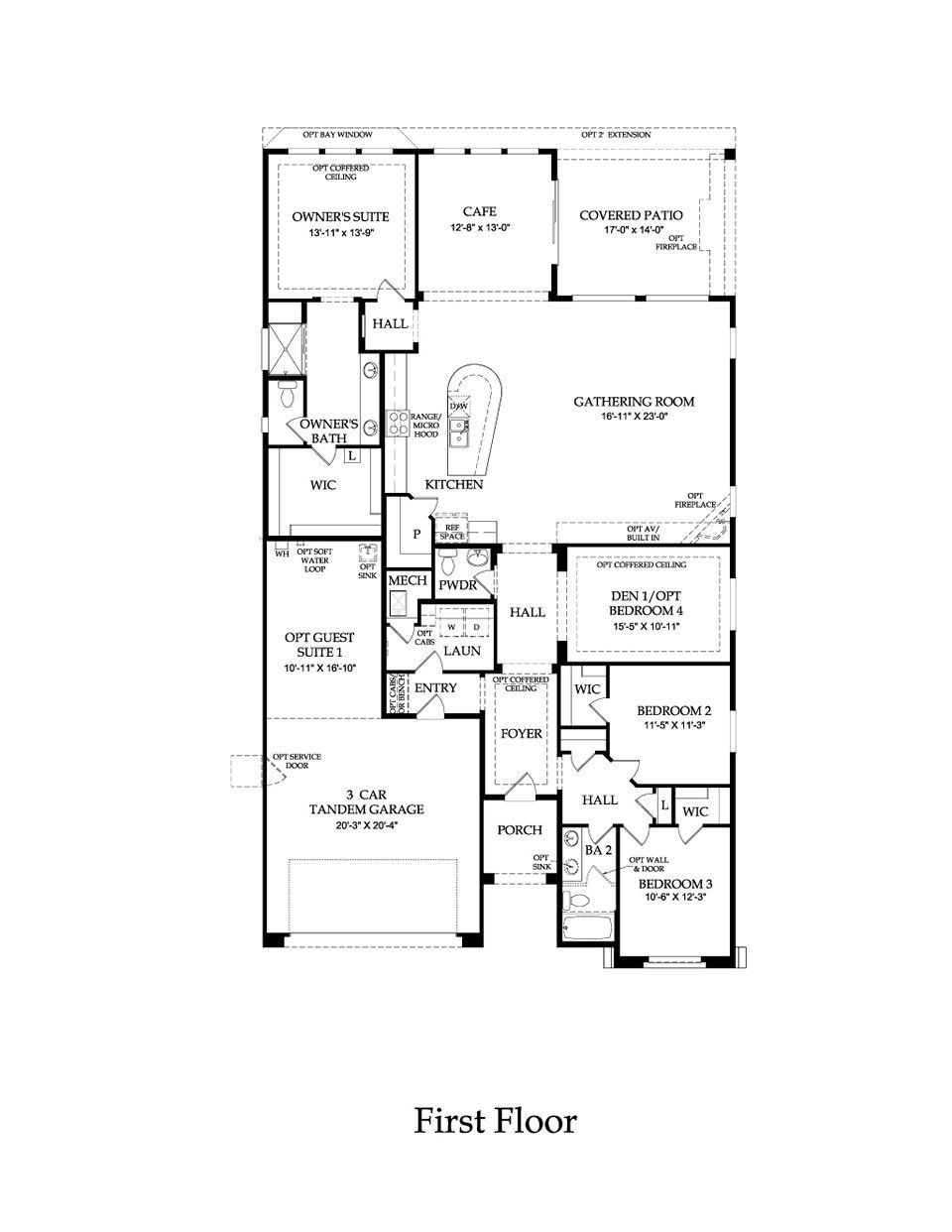 Pulte home parklane model 2449 sq ft lots of options for Model home floor plans