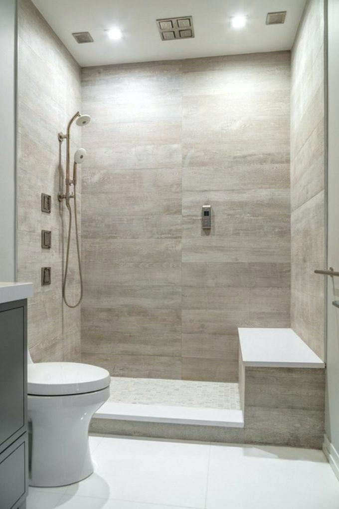 image result for large tiles shower horizontal niche