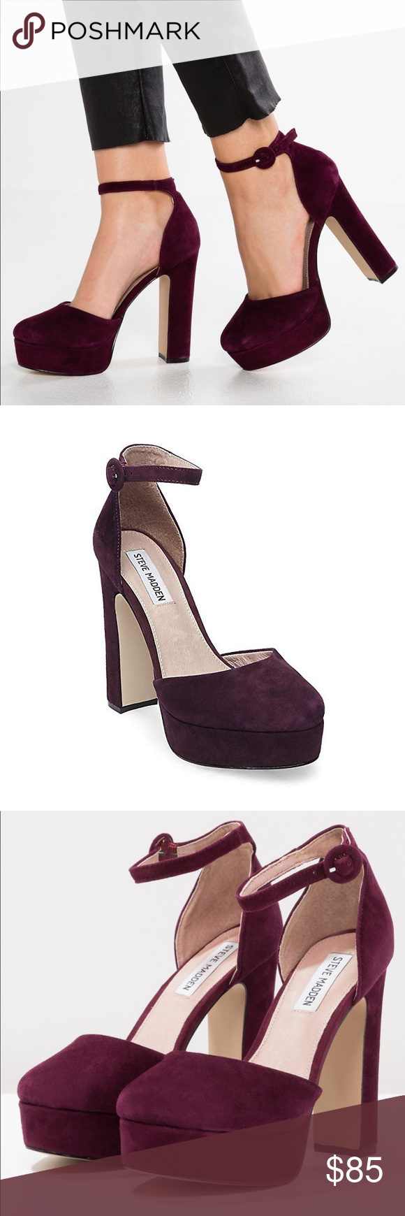 0696703a35c0 Steve Madden cordial burgundy suede heels 6.5 new steve madden cordial - high  heels burgundy women shoes heels high heels New with box material   care  upper ...