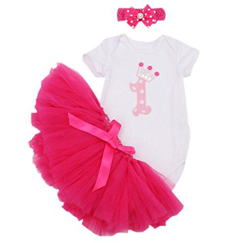 42c91021ecb8 Marlegard Baby Girls 3PCs 1st Birthday Tutu Dress Headband Bubble Skirt for  12M     Read more reviews of the product by visiting the link on the image.