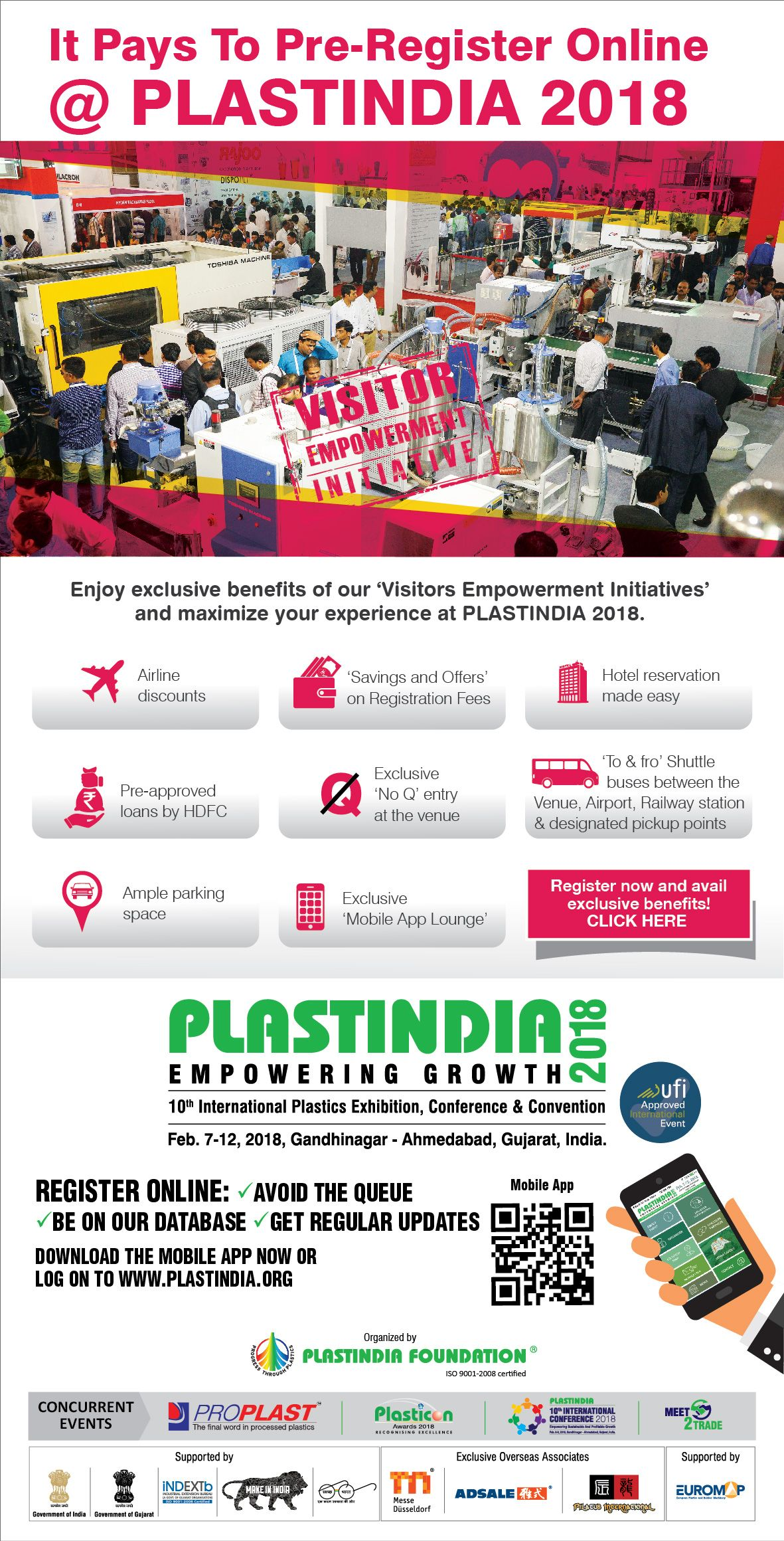 88bf20b5fa6 It Pays To Pre-Register Online @ #PlastIndia2018 Enjoy exclusive ...