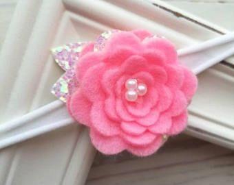 Felt flower headband | Etsy #feltflowerheadbands