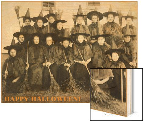 Class Picture of Witches Wood Print at AllPosters.com